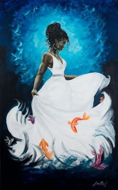 The African orisha of the ocean and all that inhabits in it. She is the water that pushes up against the seashores. She gives life in all aspects. Black Love Art, Black Girl Art, Art Girl, African American Art, African Art, Native American Indians, African Prints, Orishas Yoruba, Goddess Art