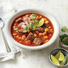 Mexican Stew/Posole   OMG ,I made this tonight for supper and it was fabulous!  I only pureed one of the ancho chiles and the heat was just fine.