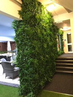 Application of SUNWING artificial hedge series products,factory direct, very nice for interior wall design or landscape