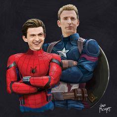 "(@jaopicksart) on Instagram: ""Peter with his friend from Brooklyn, Steve """