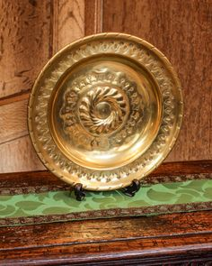 16th century brass alms dish of small proportions, Marhamchurch antiques