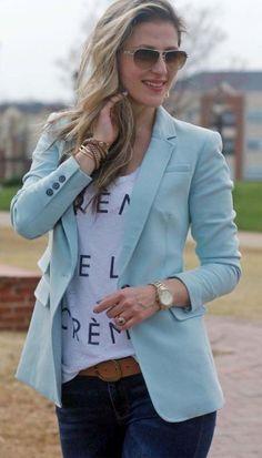 Blazer Outfits For Women, Blazers For Women, Casual Outfits, Women Blazer, Ladies Blazers, Dress Outfits, Work Casual, Casual Chic, Blazer Fashion