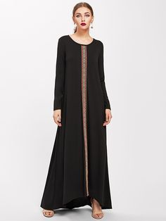 SheIn offers Embroidered Tape Detail Kaftan Dress & more to fit your fashionable needs. Caftan Dress, Boho Dress, Kaftan, Bohemian Dresses Short, Short Dresses, Morocco Fashion, Modest Wear, Textiles, Fashion Dresses