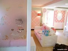 Hello Kitty Living Room Design Details (frosted Glass Divider) Hello Kitty  House, Frosted