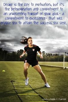 Alex Morgan is an inspirational person to me because she is a player on the USA Women's Soccer team, and embodies a strong women who pushes herself when it comes to fitness and nutrition Citation Football, Football Quotes, Basketball Quotes, Famous Soccer Quotes, Motivacional Quotes, Sport Quotes, Qoutes, Soccer Motivation, Monday Motivation