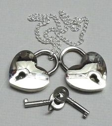 The Love Heart Lock is simple and still fairly uncommon in the U.S. providing guests with something new and unique.