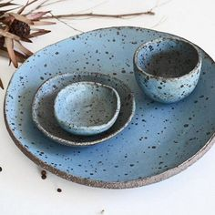 Handmade Ceramic Serving Set | susansimonini on Etsy