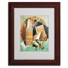 The Bottle of Banyuls 1914 by Juan Gris Matted Framed Painting Print
