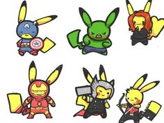 Pika-Avengers.  This is so amazing I don't even know how to appropriately respond