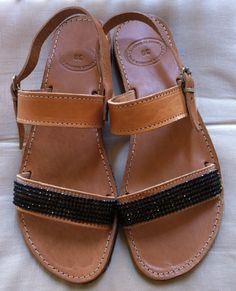 Items similar to Handmade Genuine Leather Ladies Sandals on Etsy Ladies Sandals, Trending Outfits, Lady, Unique Jewelry, Handmade Gifts, Leather, Shoes, Fashion, Kid Craft Gifts