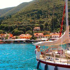 Village Sami #kefalonia #sailboat #bluewater by alexirini85