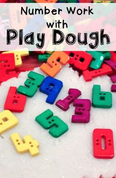 We had so much fun doing number work with play dough!
