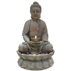Buddha Water Feature With LED Lights