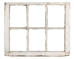 Old window frames offer many options as shabby chic decor accessories.