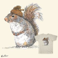 "Check out and vote for ""Squirrel with an Acorn Hat"" on Threadless!"