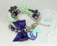 Scentsy direct sales company inspired bracelet accessory in purple and green custom customizable