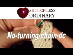 Ever been doing rows of double crochet and been aggravated that the turning chains leave a bit of a space?  Well, no more!  Check out this video: I have a feeling one of you introduced me to this v...