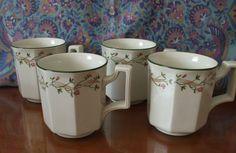 Four 1st Quality Johnson Brothers Eternal Beau Mugs  8.5cm high
