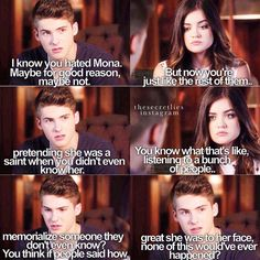 """Through a Glass, Darkly"" - Mike and Aria Watch Pretty Little Liars, Pretty Little Liers, Mike Montgomery, Pll Memes, Cody Christian, Shes Amazing, I'm Still Here, Dont Trust, Lucy Hale"