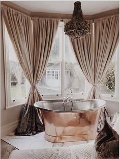 Copper tub in my bedroom Mediterranean Bathroom, Copper Tub, Clawfoot Bathtub, New Homes, Photo And Video, Bedroom, House, Instagram, Ideas