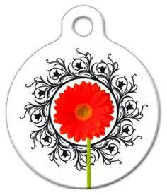 The exclusive Gerber Flower Pet ID Tag!