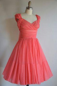 pretty coral dress...maybe a bridesmaid dress