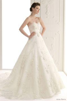 {elegant! love the crumb catcher} Alma Novia Wedding Dresses 2012 | Wedding Inspirasi