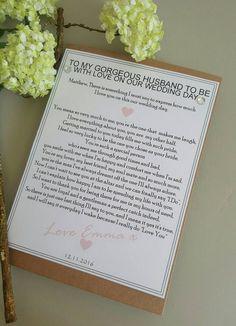Ideas Wedding Day Groom Gift Be My Bridesmaid day letters before wedding quotes Wedding Day Groom Gift, Our Wedding Day, Wedding Tips, Wedding Bride, Wedding Details, Wedding Events, Wedding Planning, Weddings, Card Wedding