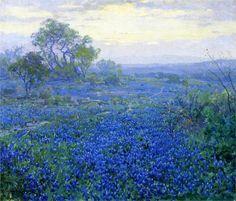 A Cloudy Day, Bluebonnets near San Antonio, Texas - Robert Julian Onderdonk