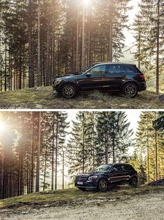 Lost in the woods. Photos by Florian Haizmann (www.prismview.de) for #MBsocialcar [Mercedes-AMG GLC 43   Fuel consumption combined: 8.7–8.3 l/100km   combined CO₂ emissions: 199–189 g/km   http://mb4.me/efficiency_statement]