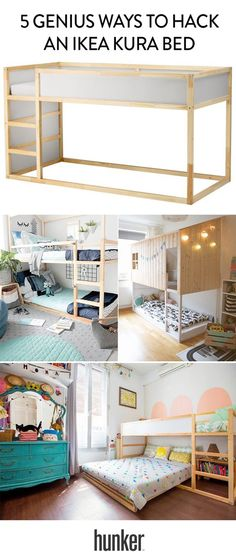 Genius Ways to Hack an Ikea Kura Bed 5 genius hacks to the Ikea loft bed. Another option to use when you need to beds in a genius hacks to the Ikea loft bed. Another option to use when you need to beds in a room Baby Bedroom, Girls Bedroom, Lego Bedroom, Boys Bunk Bed Room Ideas, Boys Shared Bedroom Ideas, Childs Bedroom, Kid Bedrooms, Girl Rooms, Bed Ideas