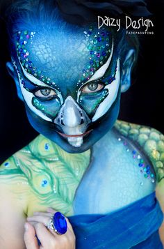 peacock face painting design - Google Search