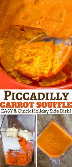 Piccadilly Cafeteria's Legendary Carrot Soufflé Copycat is made with sweet and fluffy with amazing flavor and the perfect addition to your holiday menu. #holidays #recipe #carrot #souffle #easy dinnerthendessert.com