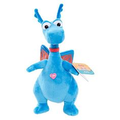"""""""I'm A Big Brave Dragon!"""" says Stuffy. Give Stuffy a hug to hear him say one of 5 phrases from the Doc McStuffins TV show. Small, soft, and cuddly this Stuffy plush is the perfect travel companion. Doc McStuffins' friends come to life in the Talking Small Bean Plush. Lambie, Stuffy, Findo and Squibbles will say a signature phrase or trademark sound effect from the Doc McStuffins TV show when you give them a hug. Collect All 4!<br><br>The doctor is in! Doc McStuffins can fix your toys with a…"""