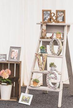 Vintage Wooden Step Ladders Wedding Prop