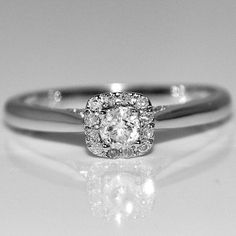 Vintage Engagement Promise Ring .27ctw Diamond White Gold solitaire Halo style Rings-MidwestJewellery, JEWELRY FUN to buy just click on amazon here   http://www.amazon.com/dp/B00AJHT2EY/ref=cm_sw_r_pi_dp_c6Orsb0CZGWC2JMM