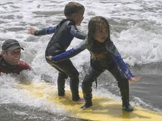 Kids learn how to surf! Dominical- Costa Rica