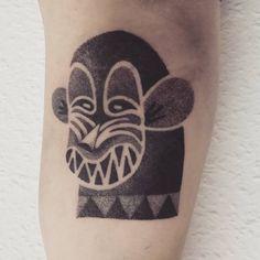 Monkey tattoo by Gabriel Bendandi