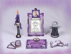 Halloween Nightmare Christmas Ouija Witch Clay Dollhouse Miniature OOAK PASSION