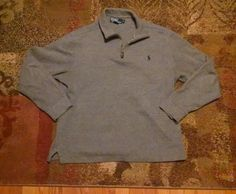 Polo Ralph Lauren Men's Gray Sweater Size Large #PoloRalphLauren #12Zip