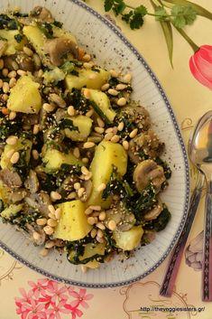 Vegan Vegetarian, Vegetarian Recipes, Salad Bar, Yams, Greek Recipes, Pasta Salad, Food Inspiration, Salad Recipes, Food And Drink