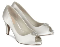 White Dyeable Pink Lustre Bridal Shoes