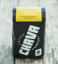 Custom logo type and packaging design I created for Chava Coffee Co. This stuff is sooo good.  (Photo by @Hunter Sprague) Great organic, fair-trade coffee at www.chavacoffee.com