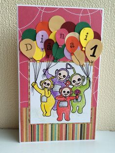 Birthday card for little Teletubbies fan
