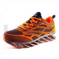 Mens Breathable Mesh Running Shoes Elastic Shock Absorption Sneakers