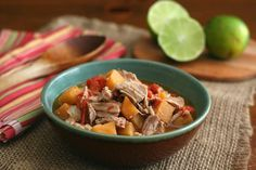 Easy comfort food is the name of the game when Thanksgiving is on the horizon. All this southwestern pork stew requires is popping everything into the slow cooker and setting it on low.