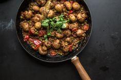 Mushroom+Masala+And+Fenugreek