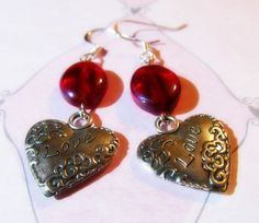Earrings  Handmade Charming Style for Valentine's by CraftyChic90, $4.00