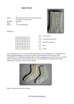 Siiri-sukat naisen villasukat pitsisukat nalle Crochet Square Patterns, Knit Or Crochet, Yarn Colors, Knitting Socks, One Color, Slippers, Sewing, Knits, Dots