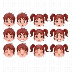 This is the kind of illustrations that are most downloaded on the microstock industry. Avatar faces, in this case, children with several expressions - Vector illustration. #caricature #portrait #illustration #illustrationoftheday #instagood #illustrationartists #instaart #cartoon #caricaturedrawing #graphicriver #artwork #cartoon #avatar #fotolia #shutterstock #model #portrait #boy # child  #instaart #thevectorproject #bestvector  #vectorart #amazingvector #girl #picoftheday #childhood